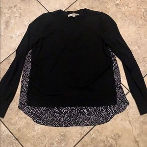 Black sweater with pokeadot